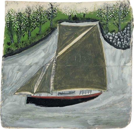 Alfred Wallis, Sailing ship and orchard, 1935-37 (circa)