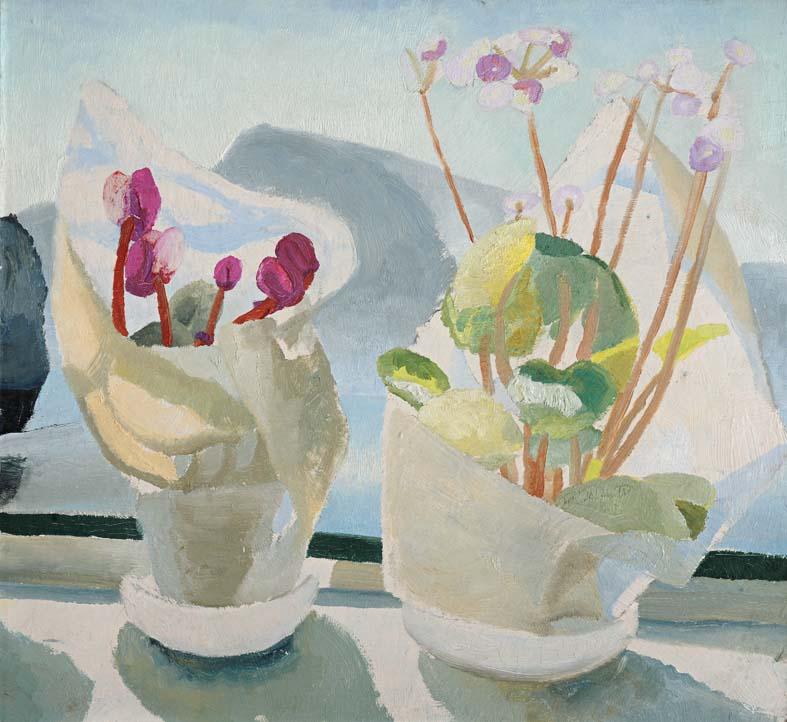 Winifred Nicholson Cyclamen Primula Art Painting Kettle's Yard