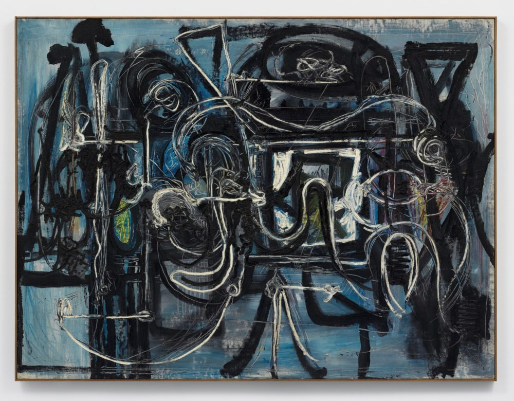 Richard Pousette-Dart Nightscape c. 1948 Oil on linen 1,092 x 1,460 mm J & J Collection