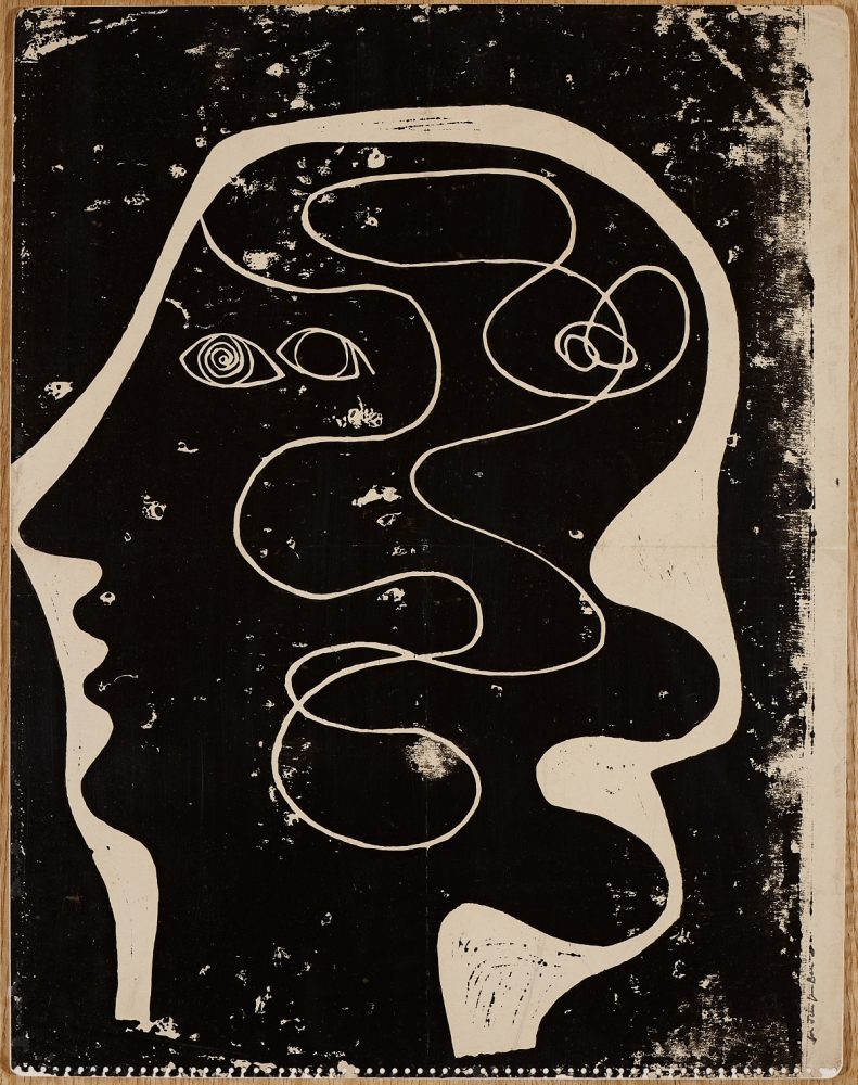 Ben Nicholson's head print
