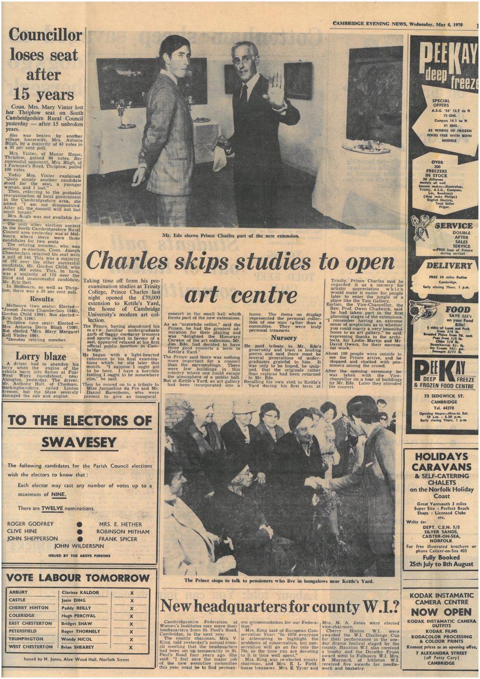 Helen Hurrying Prince Charles Along At The Inaugural