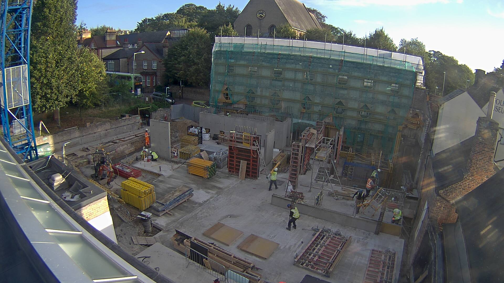 View from the crane on Kettle's Yard building site